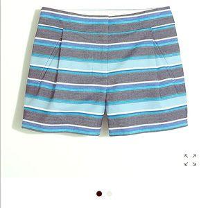J crew blue stripped shorts size 4